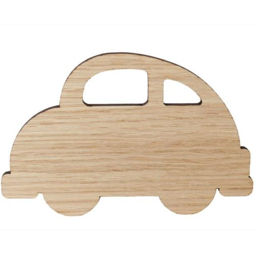 Wooden Screw-In Wall Hook shape of a car