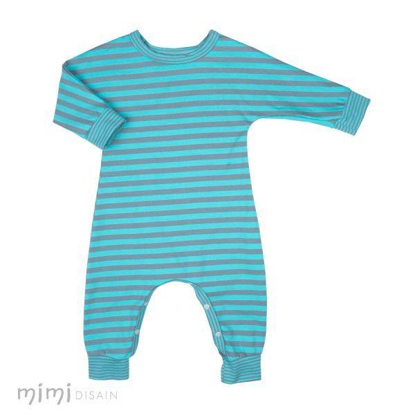 Blue Stripes Jumpsuit for babies