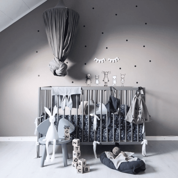 Stickstay black dots nursery wall stickers decals for kids bedrooms