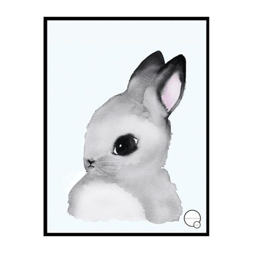 Bunny Poster for Kids Bedroom