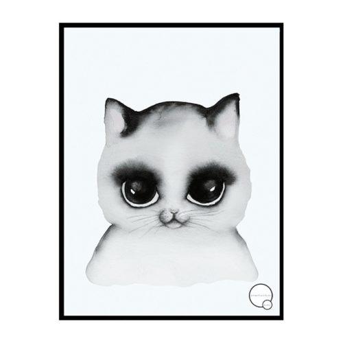 Cat Poster for Nursery Scandi Design