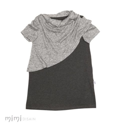 Casual Little Girls Dress Stella Dark grey