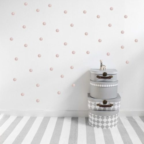 Nursery Wall Stickers - pink dots
