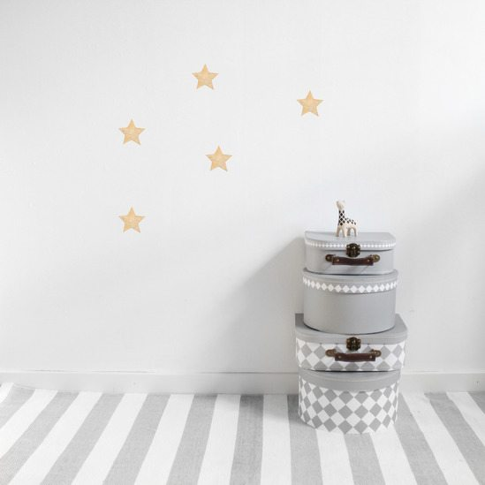 Gold star wall stickers for nursery