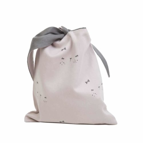 Pink Lunchbag BUnnyface by Fabelab