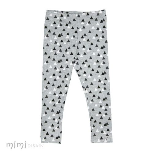 Kids Cotton Leggings triangle grey