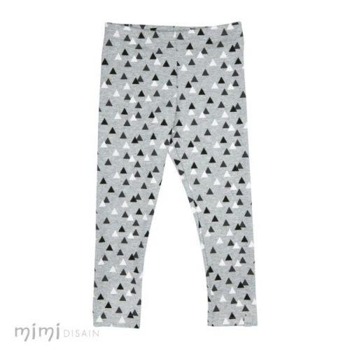 Kids Cotton Leggings triangle grey