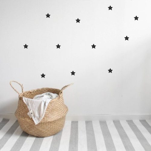 Kids Bedroom Wall Stickers - Black Stars