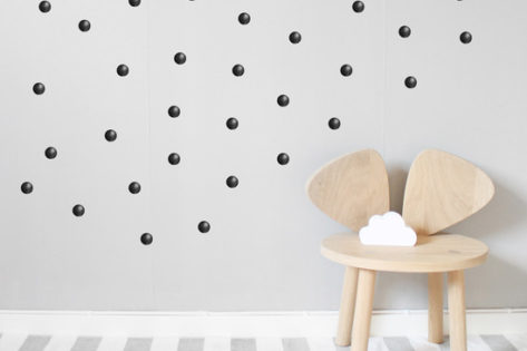 Kids Bedroom Wall Stickers Black Dots or Spots