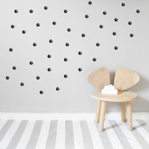Kids Bedroom Wall Stickers Black Dots or Spots