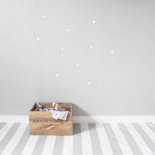 White Stars Nursery Wall Stickers Kids Decor