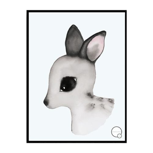 Deer Poster for Nursery or Kids Bedroom