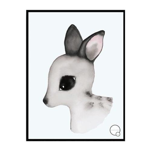 Deer Poster for Nursery or Kids Bedroom