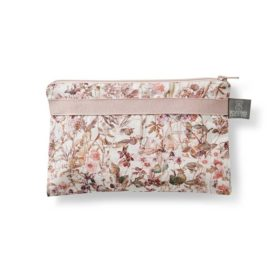 small cosmetics purse pink wildflower by homeyness