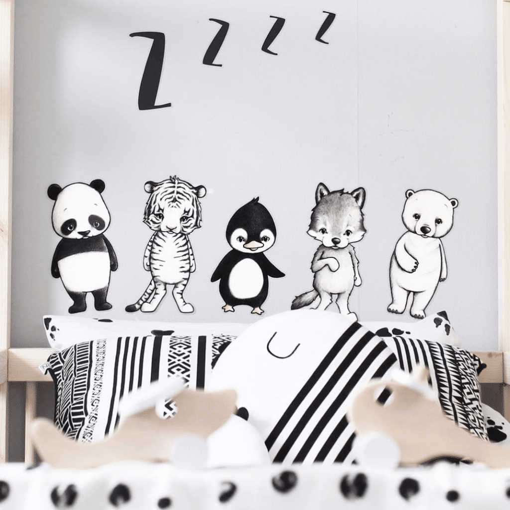 Sustainable Kids animal wall Stickers for Wall Decor