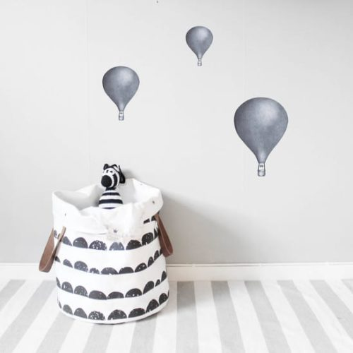 Dark Blue Medium Balloon Kids Bedroom Wall Sticker