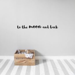 Kids wall sticker text to the moon and back