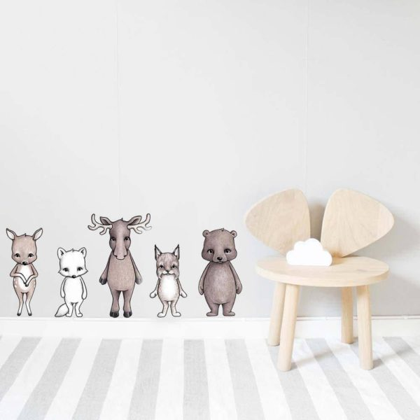 Nordic Friends Kids Wall Stickers for Nursery and Kids Bedroom