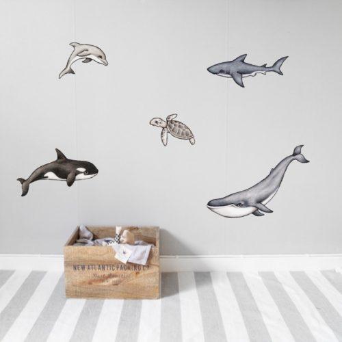 Nursery Wall Stickers - Ocean animals