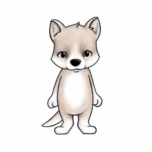 Australian Animals Wall Stickers for Nursery - Dingo