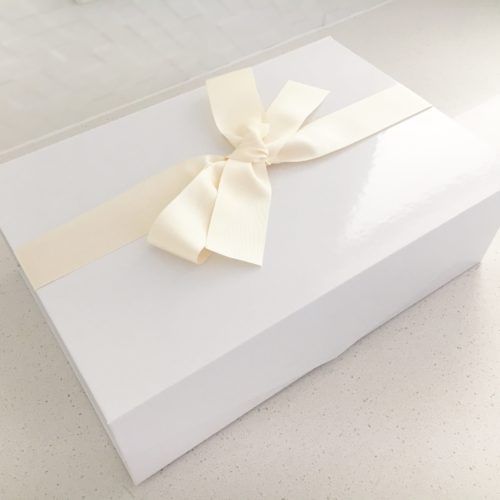 Gift Box for Baby Items + Cream Bow