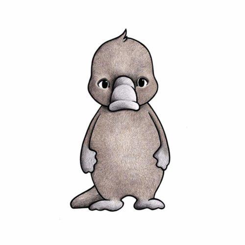 Australian Animals Wall Stickers for Nursery - Platypus