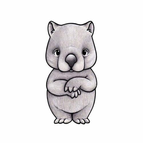 Australian Animals Wall Stickers for Nursery - Wombat