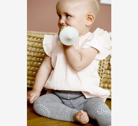 Crawling Leggings For Babies Grey Melange Nordlife Australia