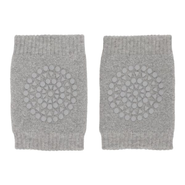 Baby crawling kneepads in grey melange colour