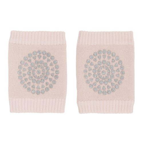 Baby crawling kneepads in soft pink glitter colour
