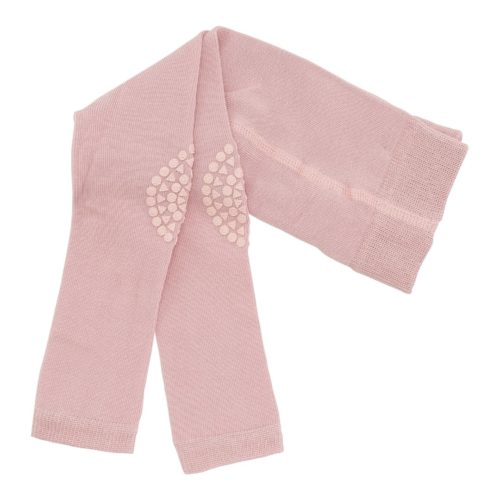 Baby crawling leggings in dusty rose colour
