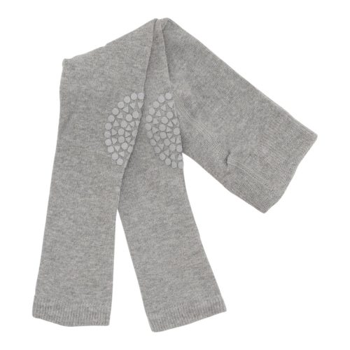 Baby crawling leggings in grey melange colour