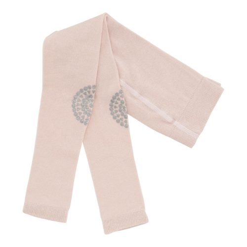 Baby crawling leggings in soft pink glitter colour