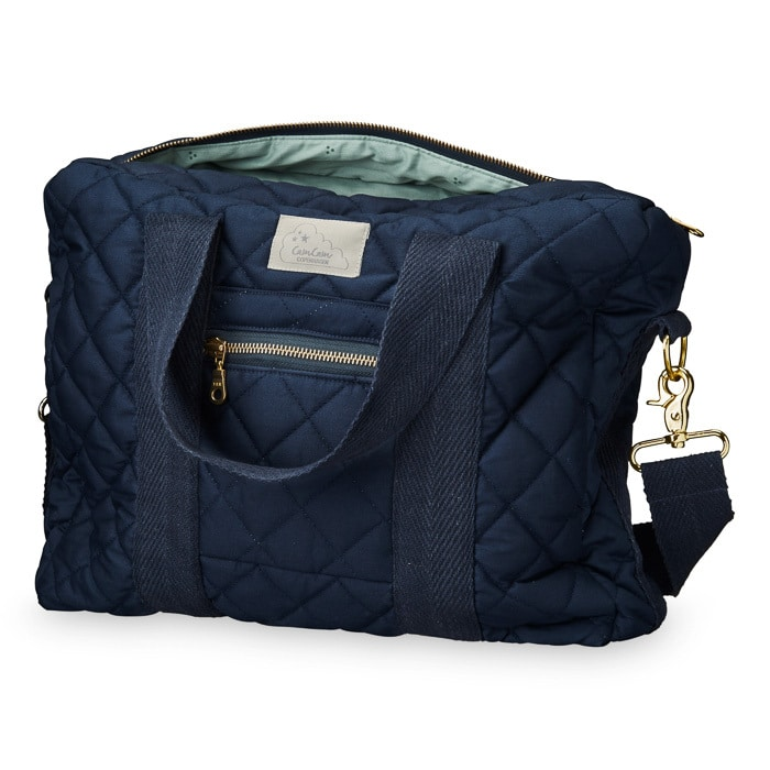Cam Cam Nursery Bag Navy with straps and lining