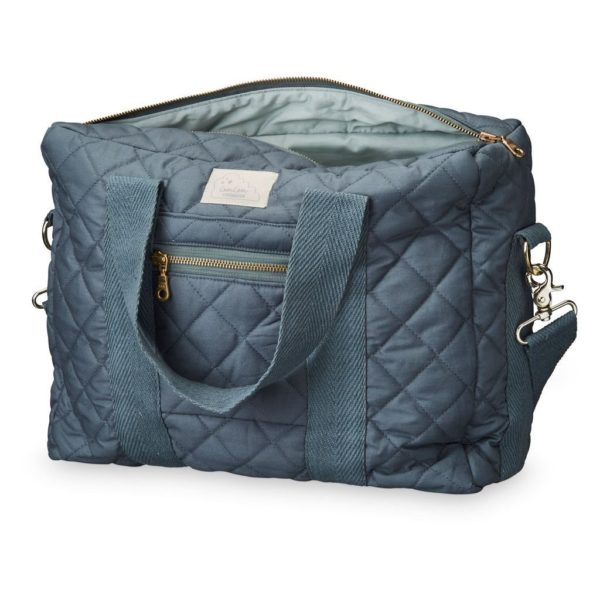 Charcoal Nappy Diaper Nursing bag with golden zipper