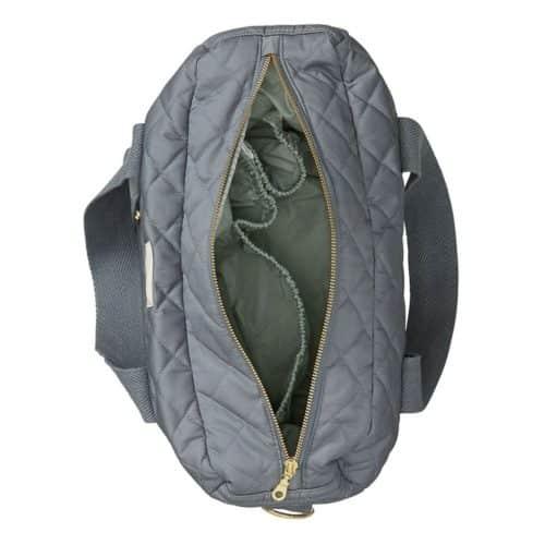 Charcoal Nappy Diaper Nursing bag with golden zipper