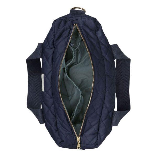 Navy Nappy Diaper Nursing bag with golden zipper