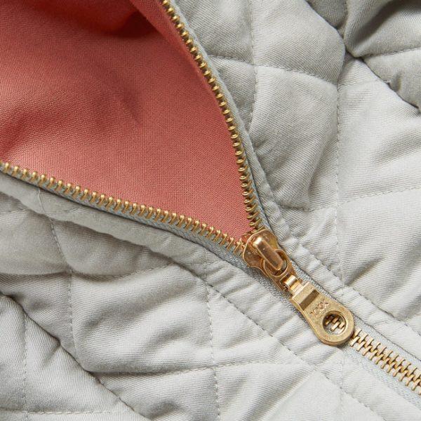 Cam Cam weekend bag in grey zipper details