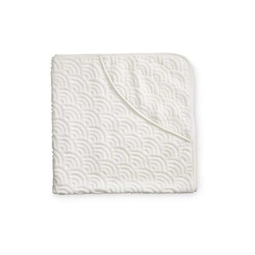 Off white hooded baby towel