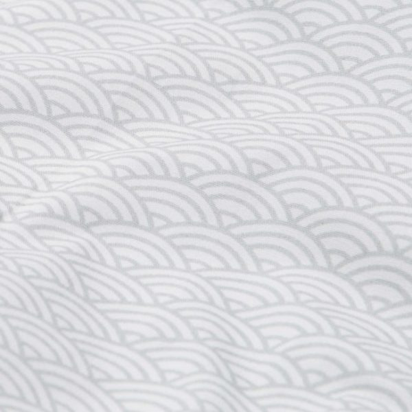 Grey wave baby bib fabric details