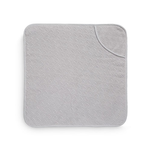 Grey wave hooded baby towel