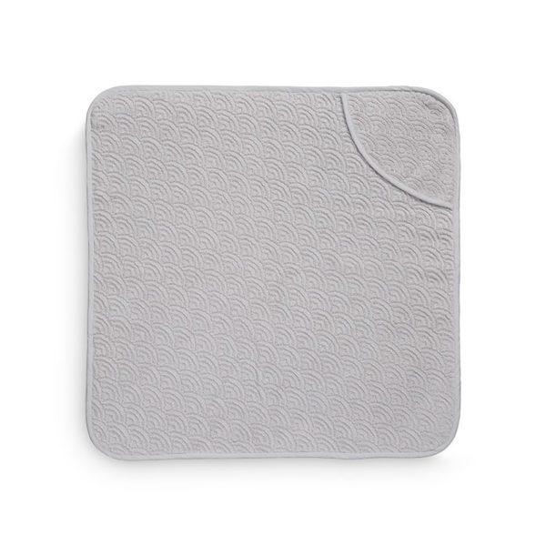 Grey wave hooded baby towel