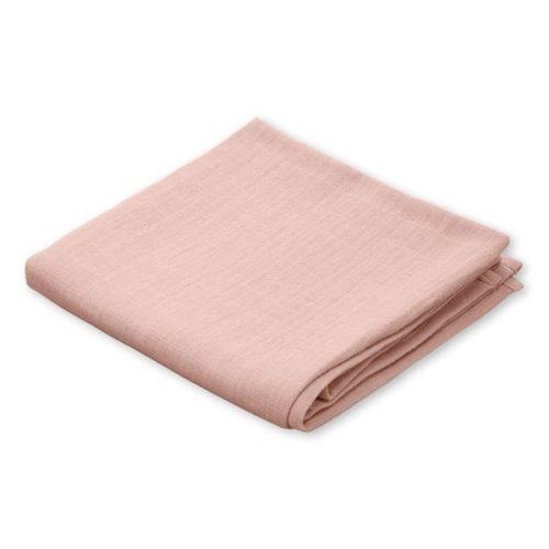 Organic muslin cloth for baby in blush