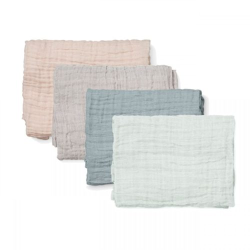 Set of four organic muslin cloths