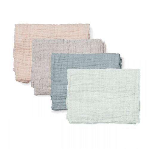 Set of four organic muslin cloths
