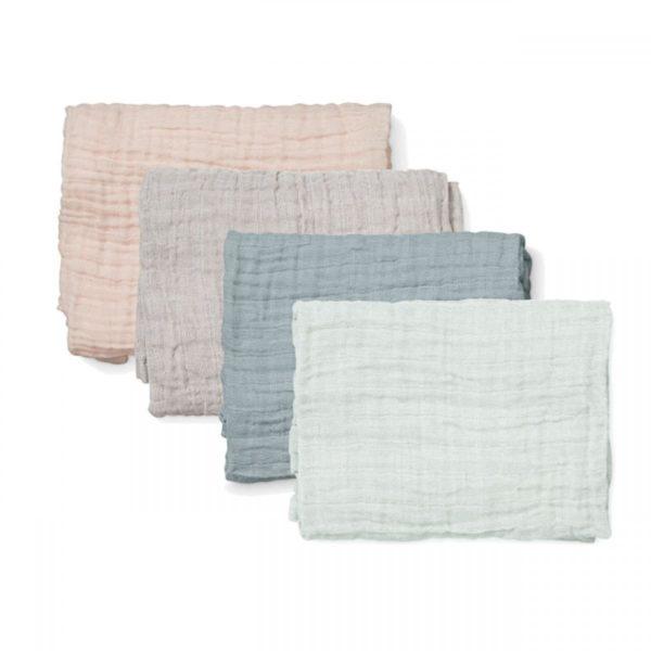 Set of muslins featuring petroleum blue muslin cloth