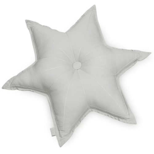 Star cushion for nursery in grey colour