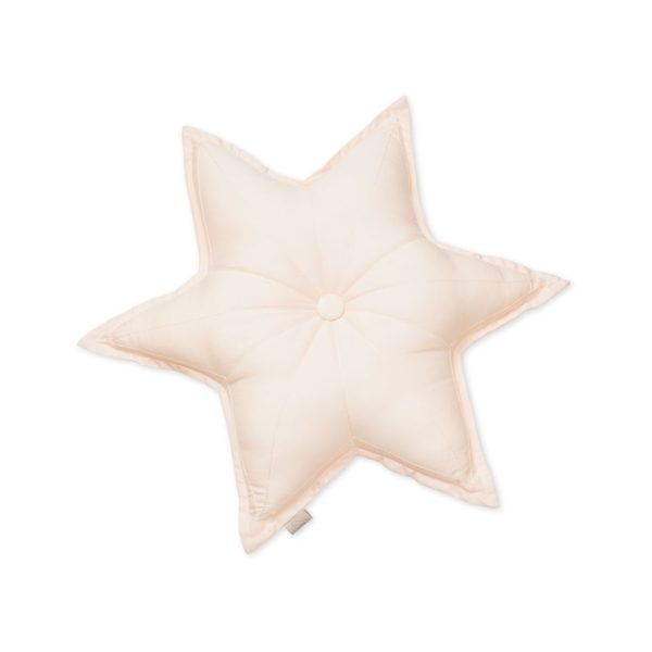 Decorative star shaped cushion for the nursery in rose