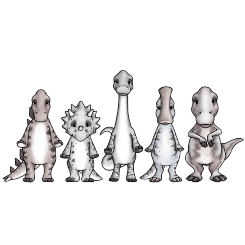 Dinosaur wall stickers set
