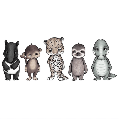 Rainforest friends animal wall stickers